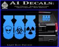 Bio Hazzard Bombs Decal Sticker Light Blue Vinyl 120x97