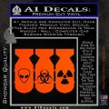 Bio Hazzard Bombs Decal Sticker Orange Vinyl Emblem 120x120