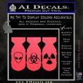 Bio Hazzard Bombs Decal Sticker Pink Vinyl Emblem 120x120