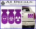 Bio Hazzard Bombs Decal Sticker Purple Vinyl 120x97