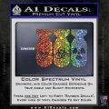Bio Hazzard Bombs Decal Sticker Sparkle Glitter Vinyl 120x120