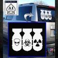 Bio Hazzard Bombs Decal Sticker White Emblem 120x120