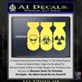 Bio Hazzard Bombs Decal Sticker Yelllow Vinyl 120x120