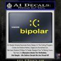 Bipolar Decal Sticker Yellow Laptop 120x120