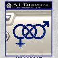 Bisexual Symbol Decal Sticker Blue Vinyl 120x120