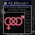 Bisexual Symbol Decal Sticker Pink Emblem 120x120