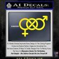 Bisexual Symbol Decal Sticker Yellow Laptop 120x120