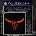Bison Skull Native American DW Indian Decal Sticker Orange Vinyl Emblem 120x120
