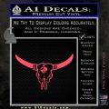 Bison Skull Native American DW Indian Decal Sticker Pink Vinyl Emblem 120x120