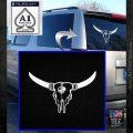 Bison Skull Native American DW Indian Decal Sticker White Emblem 120x120