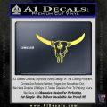 Bison Skull Native American DW Indian Decal Sticker Yelllow Vinyl 120x120