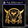Bison Skull Native American Indian Ritual Decal Sticker Metallic Gold Vinyl 120x120