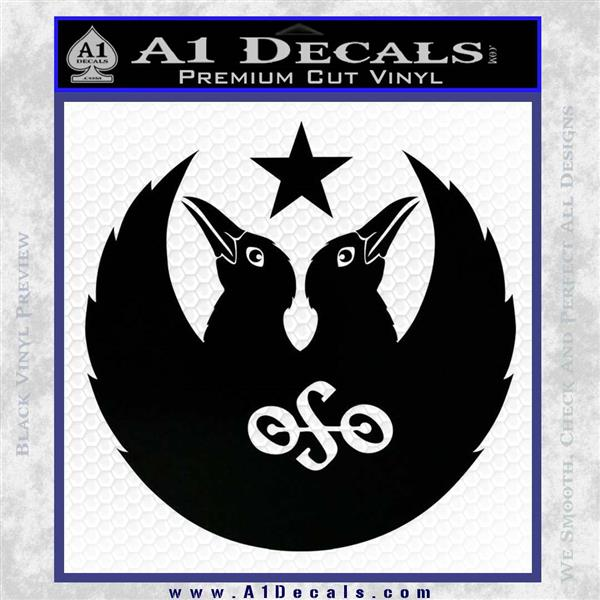 Black Crowes Jimmy Page Rock Band Decal Sticker Black Logo Emblem