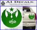 Black Crowes Jimmy Page Rock Band Decal Sticker Green Vinyl 120x97
