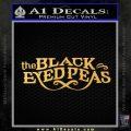 Black Eye Peas Decal Sticker BEP Gold Vinyl 120x120