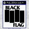 Black Flag Band Decal Sticker RT Black Logo Emblem 120x120