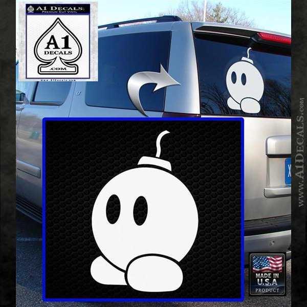 Bomb omb Mario SXC Decal Sticker White Emblem