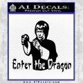 Bruce Lee Enter The Dragon Decal Sticker Black Logo Emblem 120x120