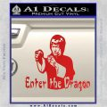 Bruce Lee Enter The Dragon Decal Sticker Red Vinyl 120x120