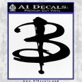 Buffy The Vampire Slayer Logo Decal Sticker Black Logo Emblem 120x120