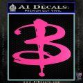 Buffy The Vampire Slayer Logo Decal Sticker Hot Pink Vinyl 120x120