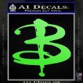Buffy The Vampire Slayer Logo Decal Sticker Lime Green Vinyl 120x120