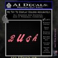 Bush Band Decal Sticker Pink Emblem 120x120