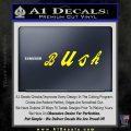 Bush Band Decal Sticker Yellow Laptop 120x120