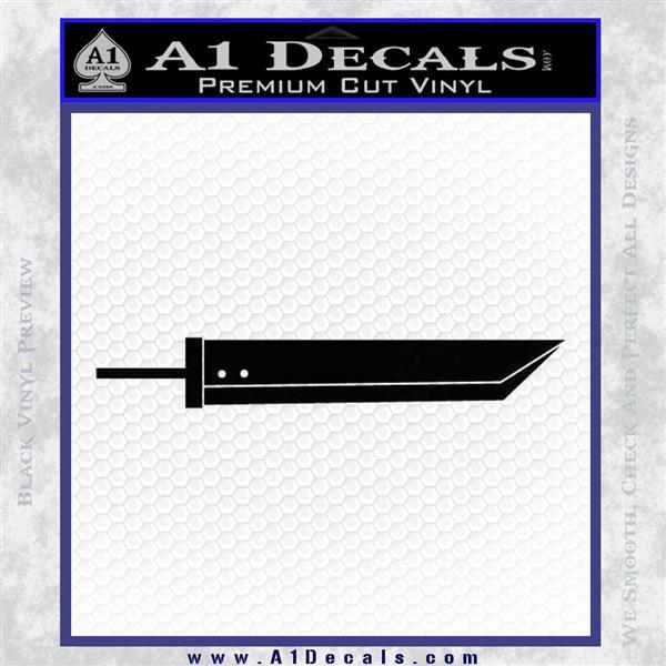 Buster Sword Final Fantasy 7 SXC Decal Sticker Black Logo Emblem