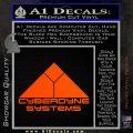 CYBERDYNE LOGO SKYNET TERMINATOR VINYL DECAL STICKER Orange Vinyl Emblem 120x120