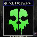Call of Duty Ghosts Decal Lime Green Vinyl 120x120