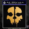 Call of Duty Ghosts Decal Metallic Gold Vinyl 120x120