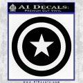 Captain USA Shield Decal Sticker Black Logo Emblem 120x120