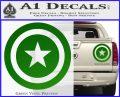 Captain USA Shield Decal Sticker Green Vinyl 120x97