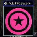 Captain USA Shield Decal Sticker Hot Pink Vinyl 120x120