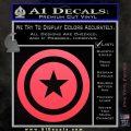 Captain USA Shield Decal Sticker Pink Vinyl Emblem 120x120