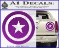 Captain USA Shield Decal Sticker Purple Vinyl 120x97