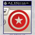 Captain USA Shield Decal Sticker Red Vinyl 120x120