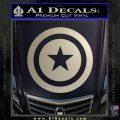 Captain USA Shield Decal Sticker Silver Vinyl 120x120