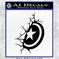 Captain USA Shield Wall Decal Sticker Black Logo Emblem 120x120