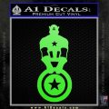 Captain USA With Shield Decal Sticker Lime Green Vinyl 120x120