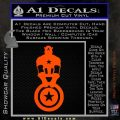 Captain USA With Shield Decal Sticker Orange Vinyl Emblem 120x120