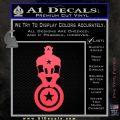 Captain USA With Shield Decal Sticker Pink Vinyl Emblem 120x120