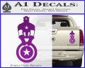 Captain USA With Shield Decal Sticker Purple Vinyl 120x97