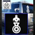 Captain USA With Shield Decal Sticker White Emblem 120x120