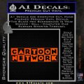 Cartoon Network Logo RDZ Decal Sticker Orange Vinyl Emblem 120x120