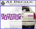 Cartoon Network Logo RDZ Decal Sticker Purple Vinyl 120x97