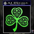 Celtic Knot Shamrock Decal Sticker DH Lime Green Vinyl 120x120