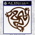 Celtic Knot Snake DS Decal Sticker Brown Vinyl 120x120