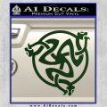 Celtic Knot Snake DS Decal Sticker Dark Green Vinyl 120x120